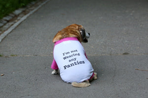"Dog's ""I'm Not Wearing Any Panties"" Tee"