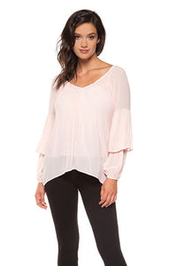 Ballet Rose Pleated Top