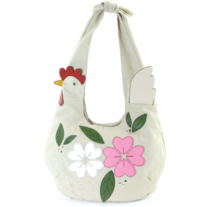 Chicken Floral Hobo Bag