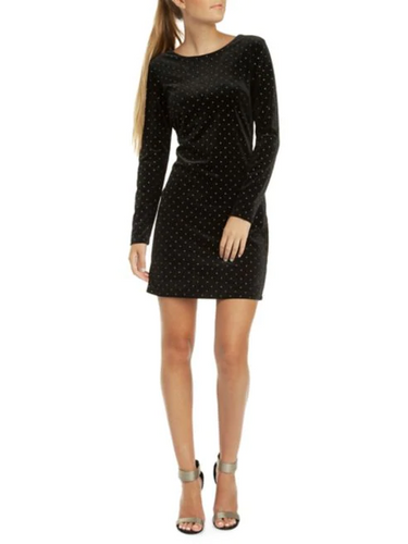 Studded Velvet Mini Dress