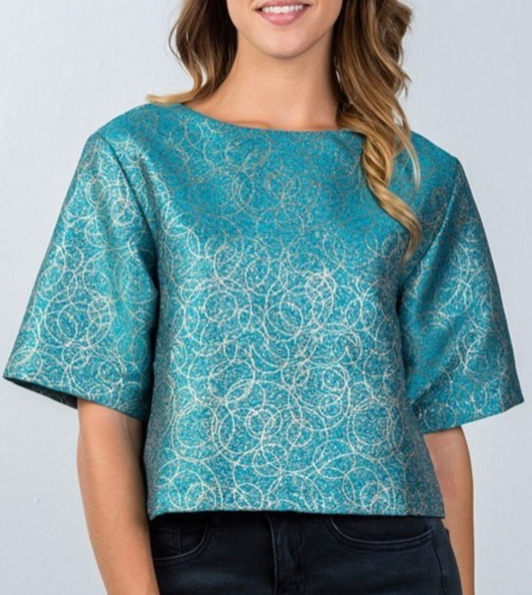 Teal Oversized Blouse