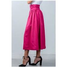Load image into Gallery viewer, Fuchsia High Waist Skirt