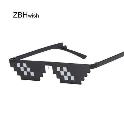 Glasses 8 Bit MLG Pixelated Sunglasses Women