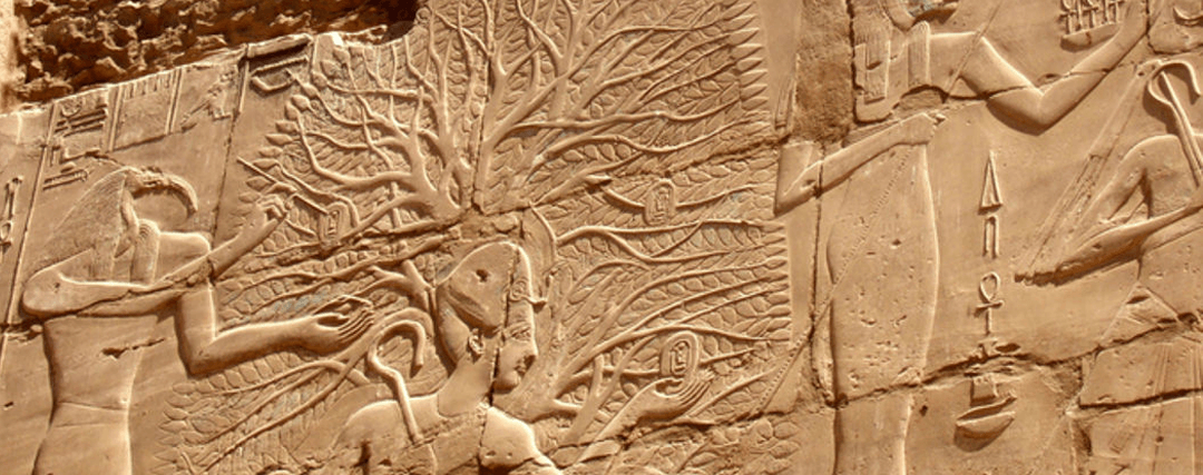 Fresque d'un Arbre de Vie en Egypte Antique