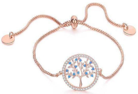 Bracelet Arbre de Vie Or Rose