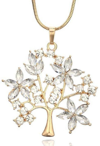Collier or arbre de vie
