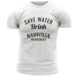 Nashville Whiskey Save Water, Drink - Men's Tee