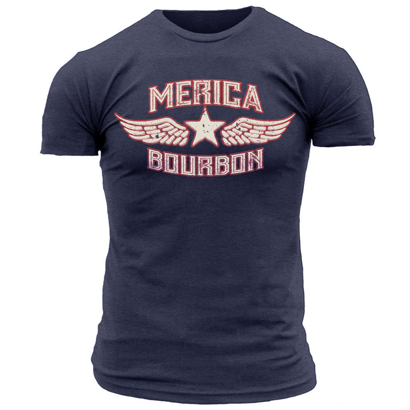 Merica Bourbon Wings - Men's Tee