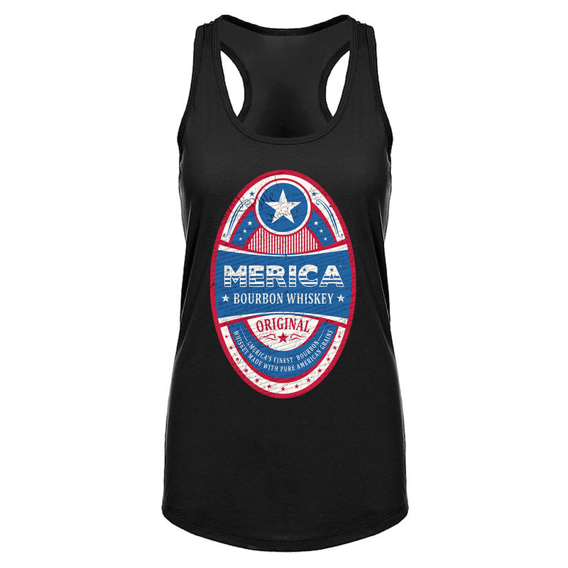 Merica Bourbon Label - Women's Tank Top