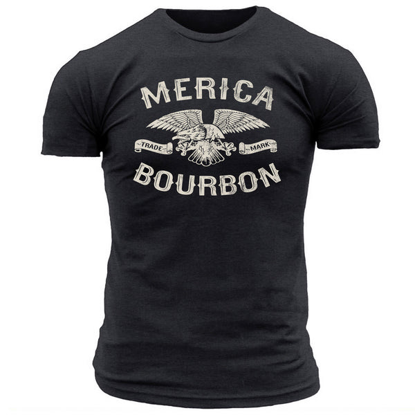 Merica Bourbon Eagle - Men's Tee