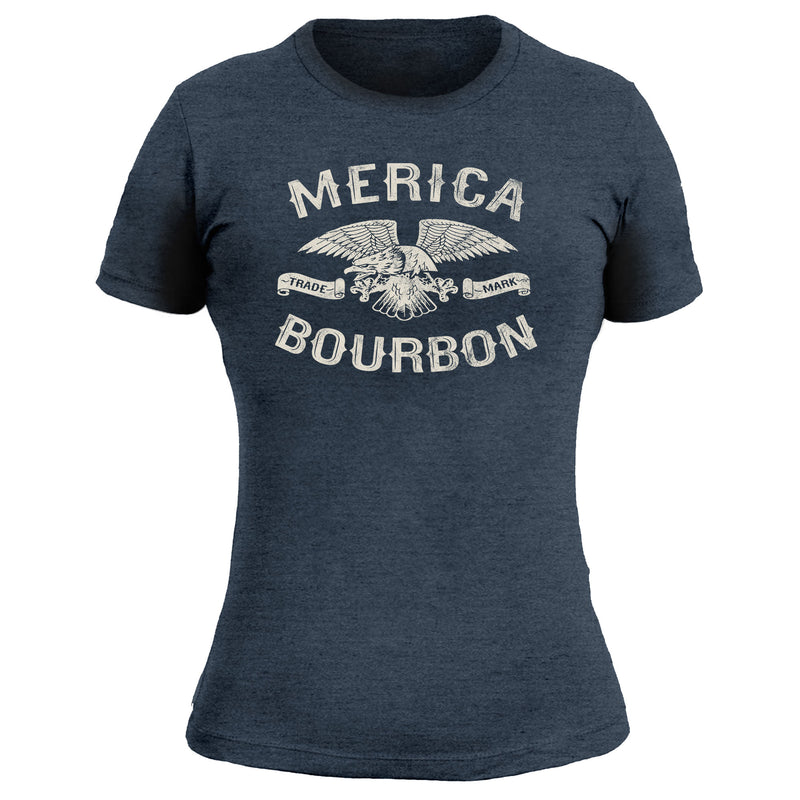 Merica Bourbon Eagle - Women's Tee