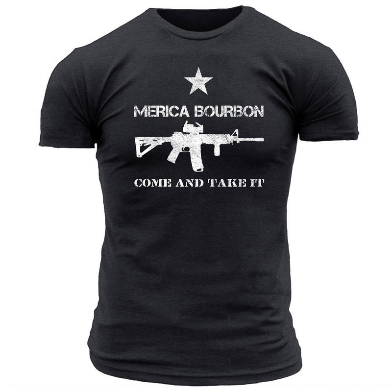 Merica Bourbon Come and Take it - Men's Tee