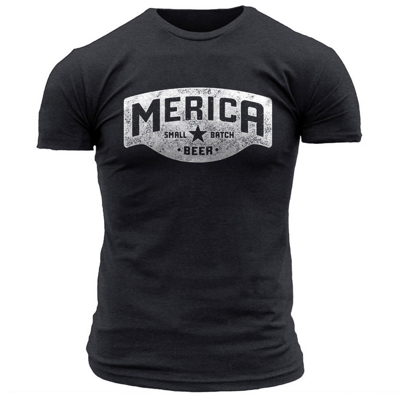 Merica Small Batch Beer Logo - Men's Tee