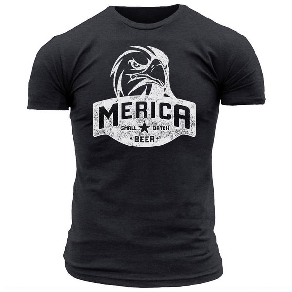 Merica Small Batch Beer Eagle - Men's Tee