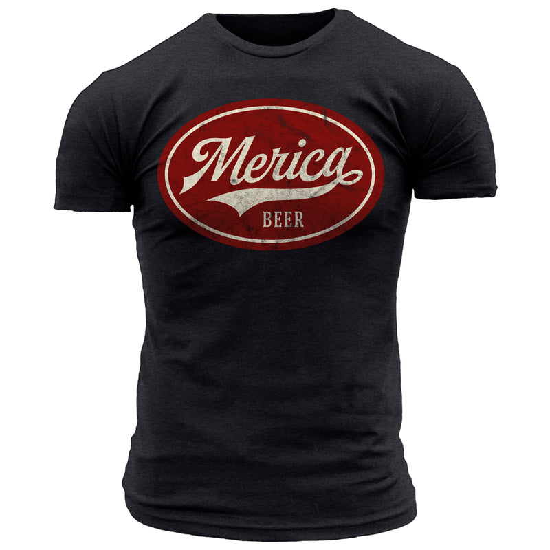 Merica Beer Emblem Red - Men's Tee