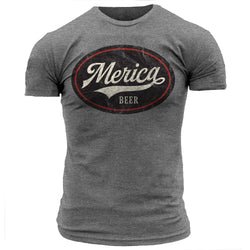 Merica Beer Emblem Black - Men's Tee