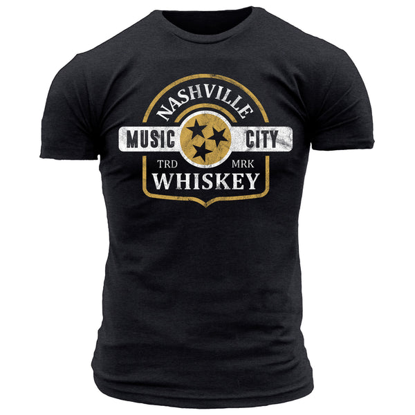 Nashville Whiskey Music City - Men's Tee