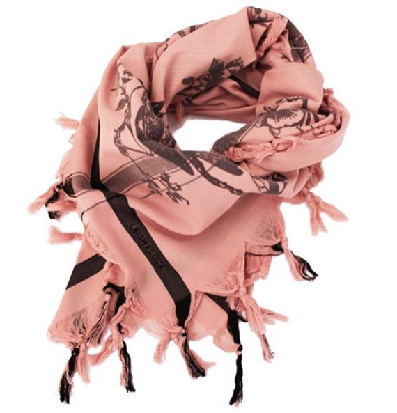 Birdtoile Blush - Fine Cotton Scarf
