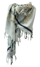 Load image into Gallery viewer, Golden Lillies - Fine Cotton Scarf