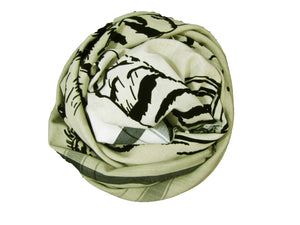 Black Velvet Tiger Ombre Dye - Fine Cotton Scarf