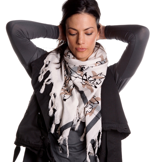 Shades of Ravens - Fine Cotton Scarf