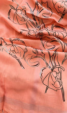 Load image into Gallery viewer, Art Deco Callas - Fine Silk Cotton Scarf