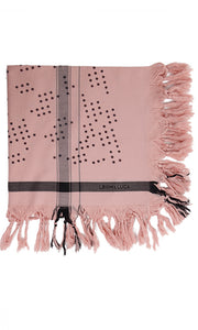 Dots Blush - Fine Cotton Scarf