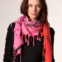 Load image into Gallery viewer, Freedom Pink Eternity - Fine Cotton Scarf