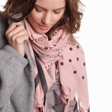Load image into Gallery viewer, Dots Blush - Fine Cotton Scarf