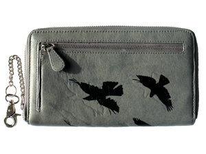 """LEIGH"" Wallet Shadow Birds Grey"