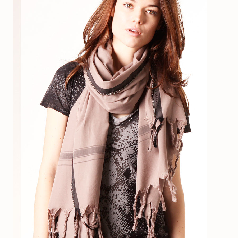 Art of Chain  -  Fine Cotton Scarf