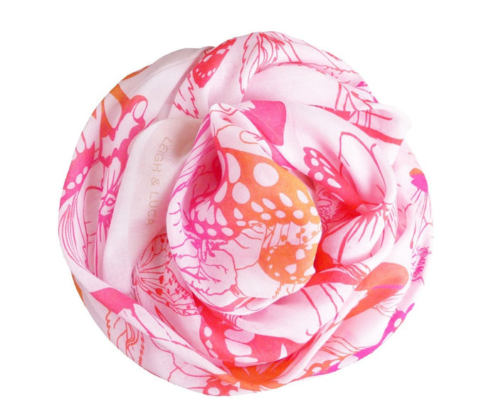 Butterfly Paradise - Cashmere Blend Scarf