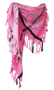 Velvet Rope  - Fine Cotton Scarf Triangle