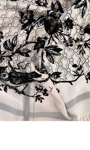 Black Velvet Birdtoile - Fine Silk Cotton Scarf