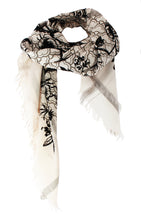 Load image into Gallery viewer, Black Velvet Birdtoile - Fine Silk Cotton Scarf