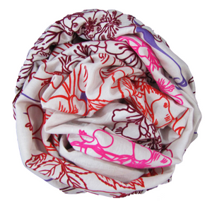 Bloom Rouge - Fine Silk Cotton Scarf