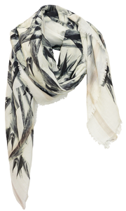 Bird of Paradise - Fine Silk Cotton Scarf