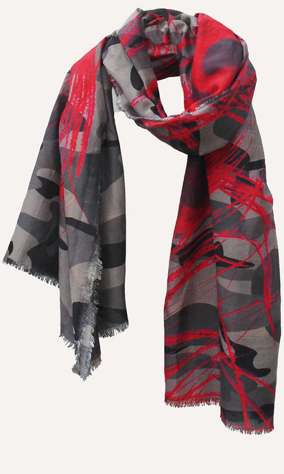 Peacock Feather Camouflage - Silk Blend Scarf