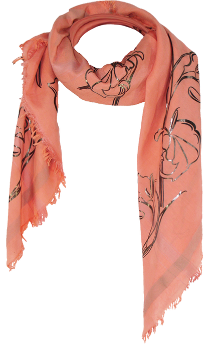 Art Deco Callas - Fine Silk Cotton Scarf