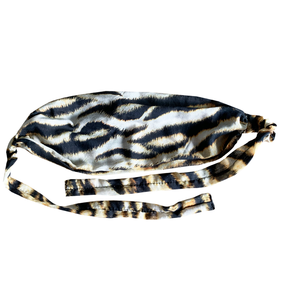 Tiger - Mask Cover /  Hairband / NeckBand / Sleeping Mask -  Fine Silk Cotton