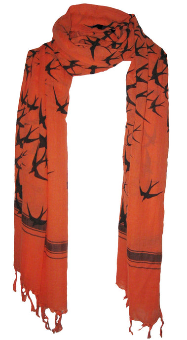 Freedom Cozy Fire  - Fine Cotton Voile Scarf