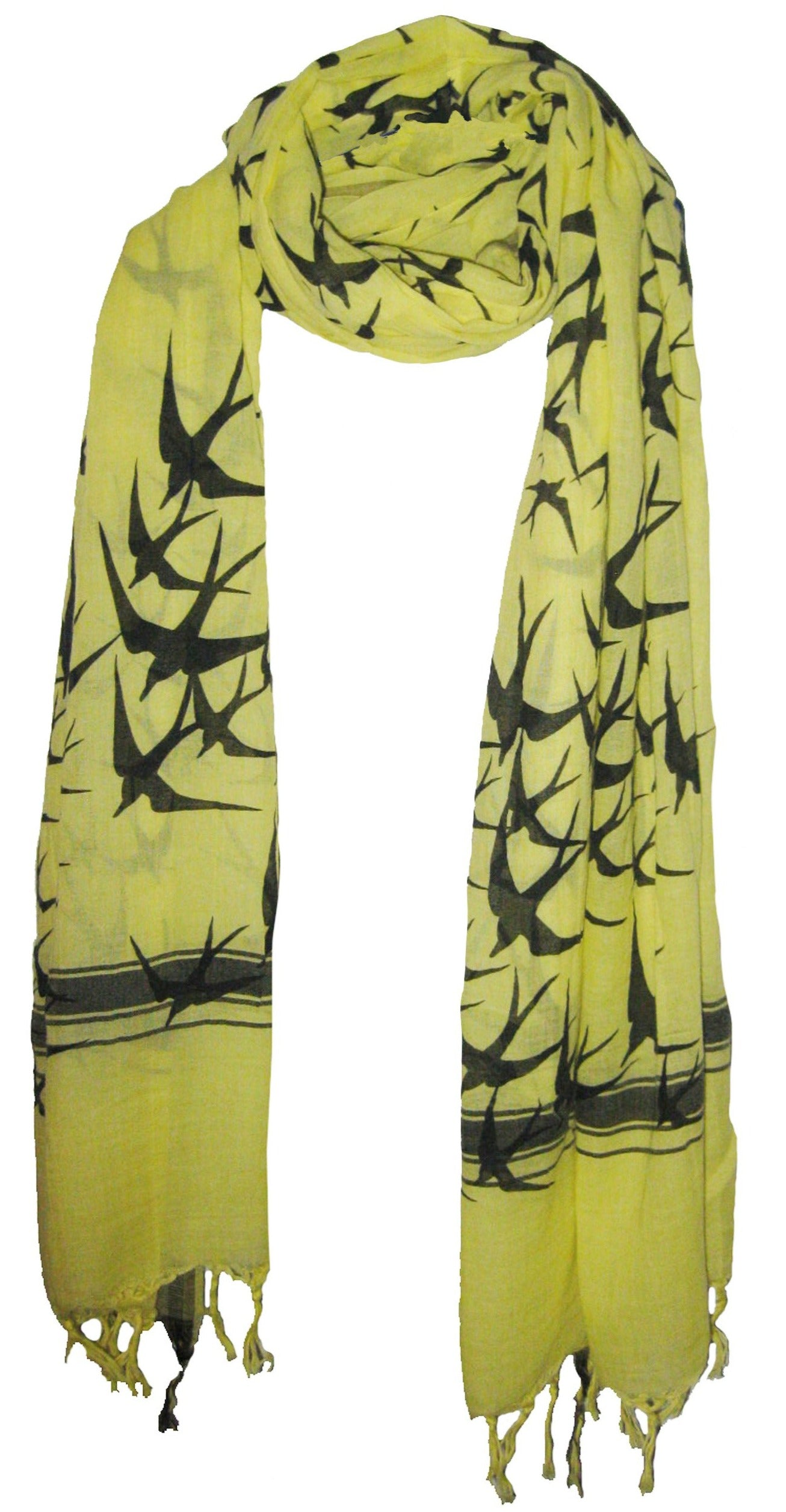 Freedom Bright Yellow  - Fine Cotton Voile Scarf