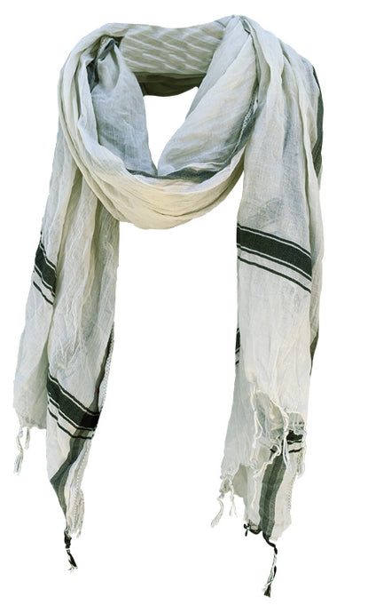 Soft Sea Foam - Fine Cotton Voile Scarf