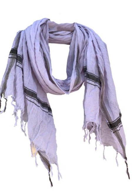 Soft Lilac - Fine Cotton Voile Scarf