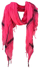 Load image into Gallery viewer, Rich Pink - Fine Cotton Voile Scarf