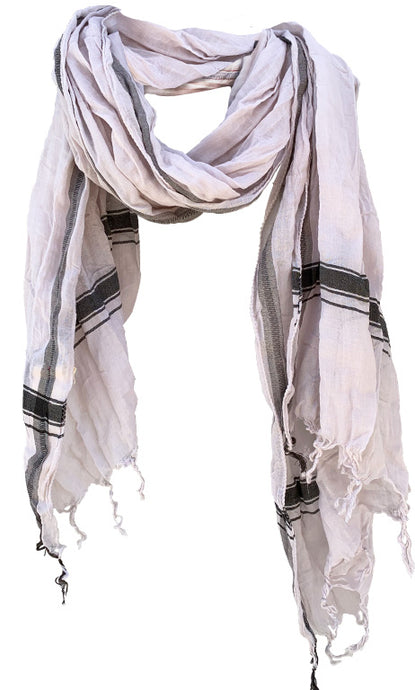 Soft Sand - Fine Cotton Voile Scarf