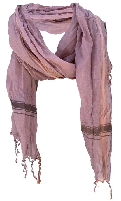 Soft Smoke - Fine Cotton Voile Scarf