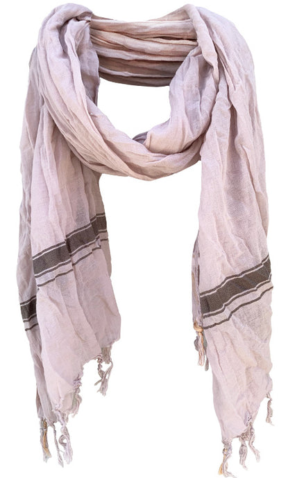 Soft Stone - Fine Cotton Voile Scarf