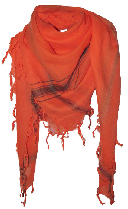 Bright Fire - Fine Cotton Voile Scarf
