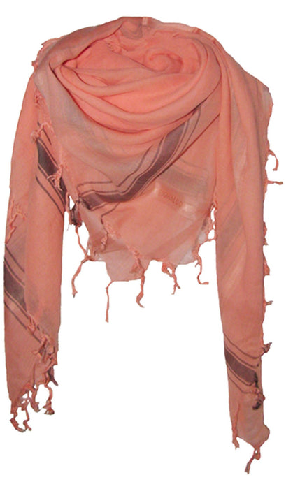 Soft Coral - Fine Cotton Voile Scarf